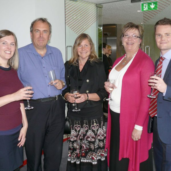 Pictured: One: (left to right) Rachael Connor (wife of Kevin Connor of Bishop Fleming), David Pearce (of Una Group), Claire Pearce (wife of David Pearce), Kathryn Young (finance director of Total Energy Solutions) and Kevin Connor (of Bishop Fleming).
